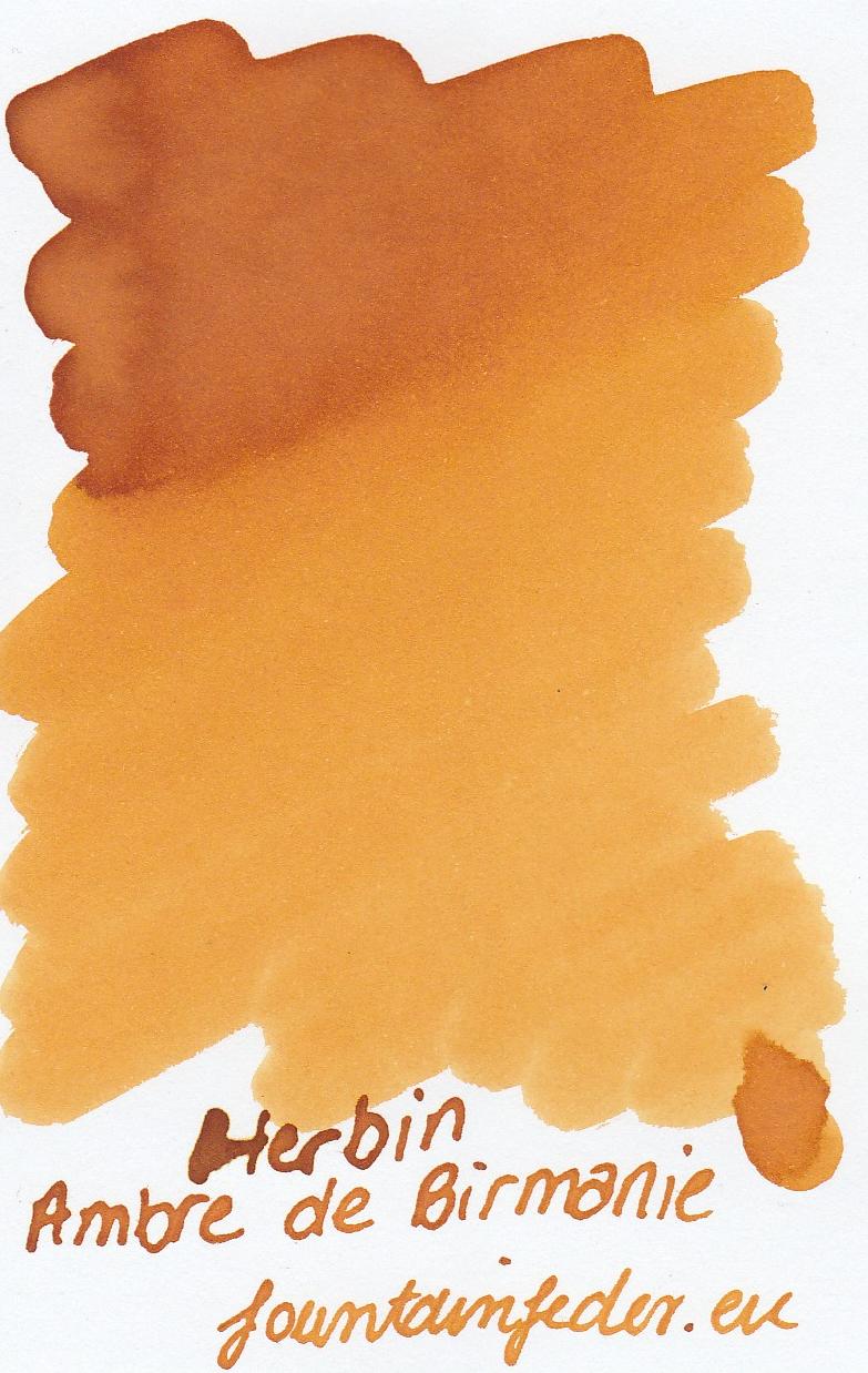 Herbin Ambre de Birmanie Ink Sample 2ml