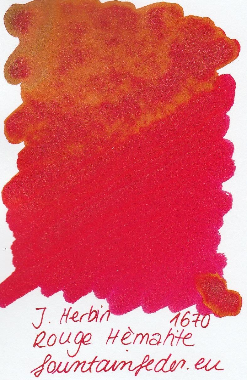 Herbin 1670 Rouge Hematite Ink Sample 2ml