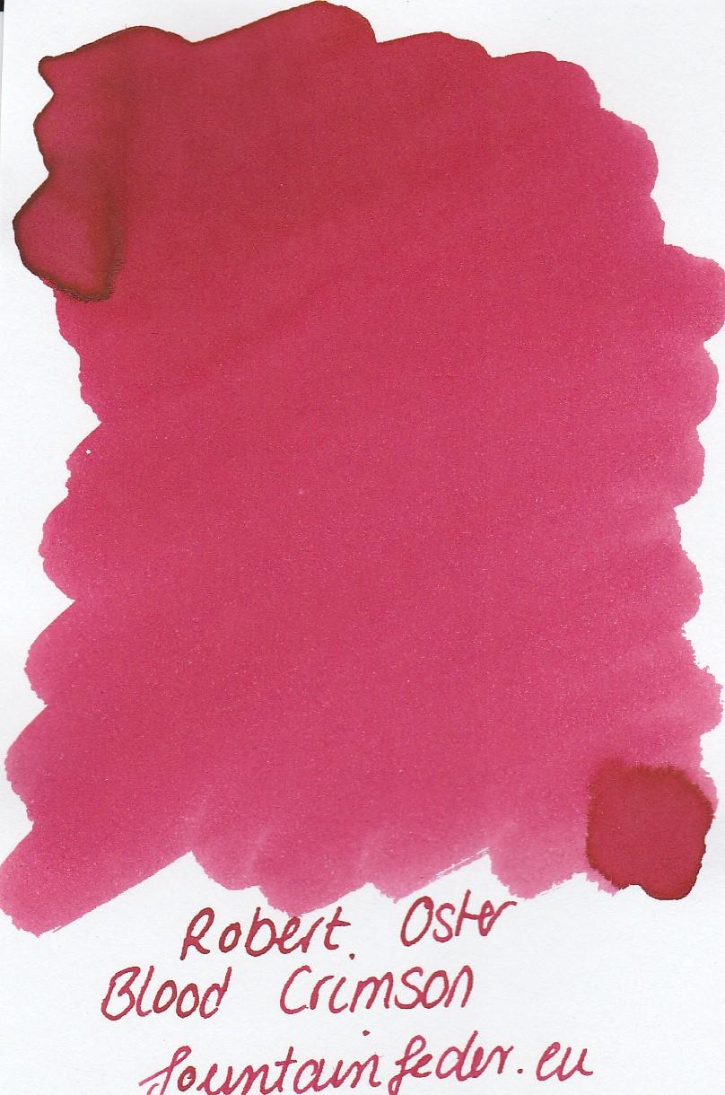 Robert Oster - Blood Crimson Ink Sample 2ml
