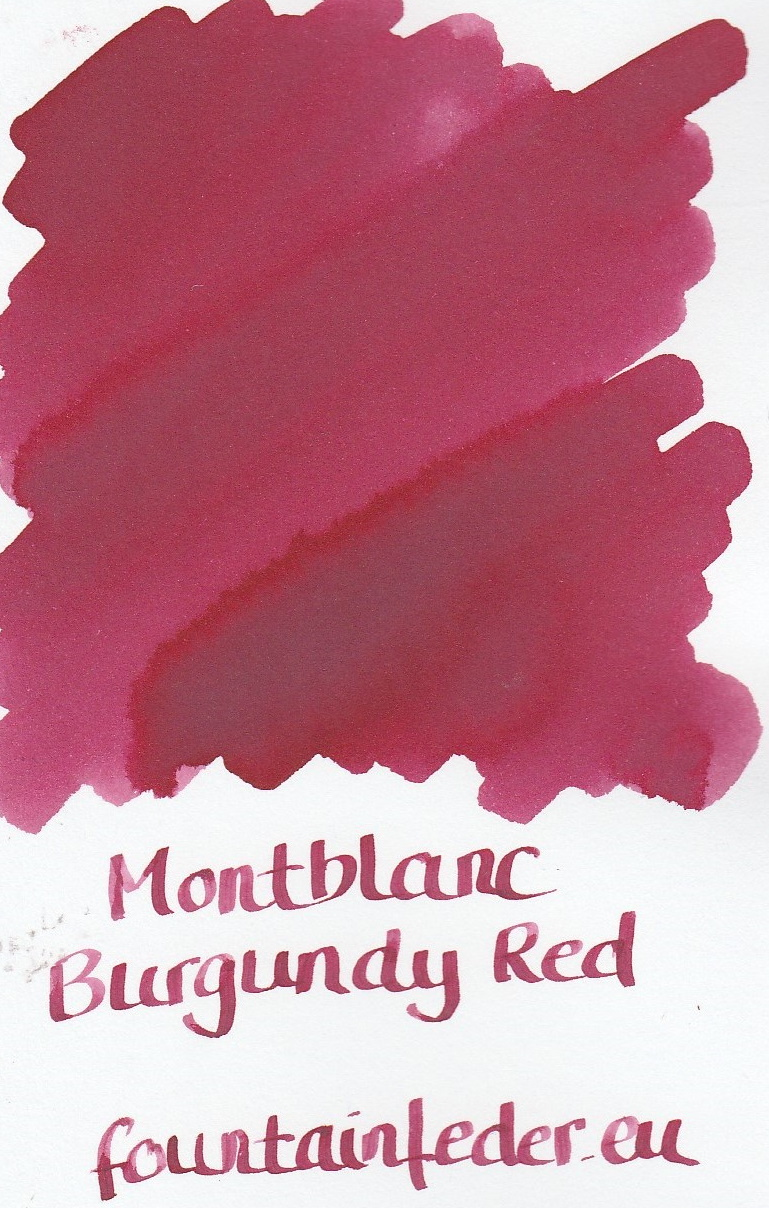 Montblanc Burgundy Red Ink Sample 2ml