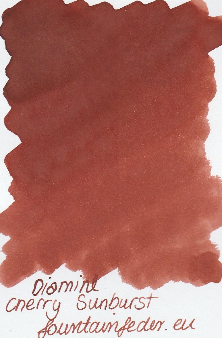 Diamine Cherry Sunburst Ink Sample 2ml