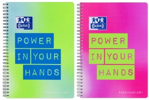 """Oxford """"Power in your Hands"""", B5 dotted"""