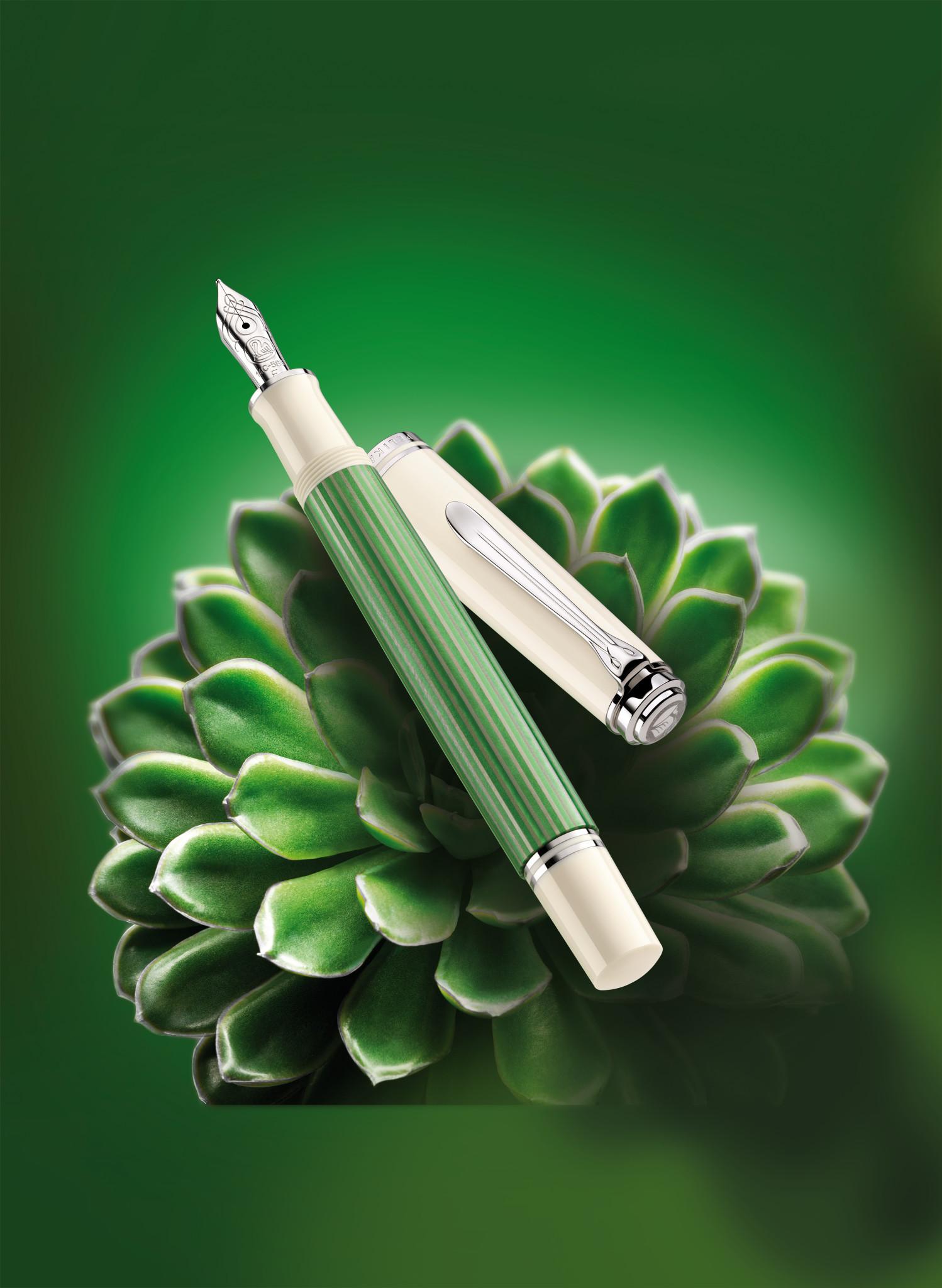 Pelikan Souverän 605 Green-White Special Edition