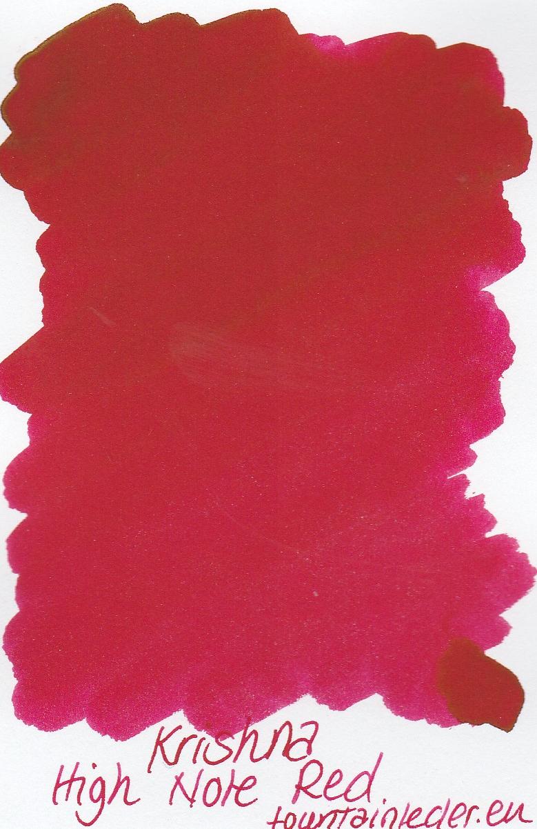 Krishna SR High Note Red Ink Sample 2ml