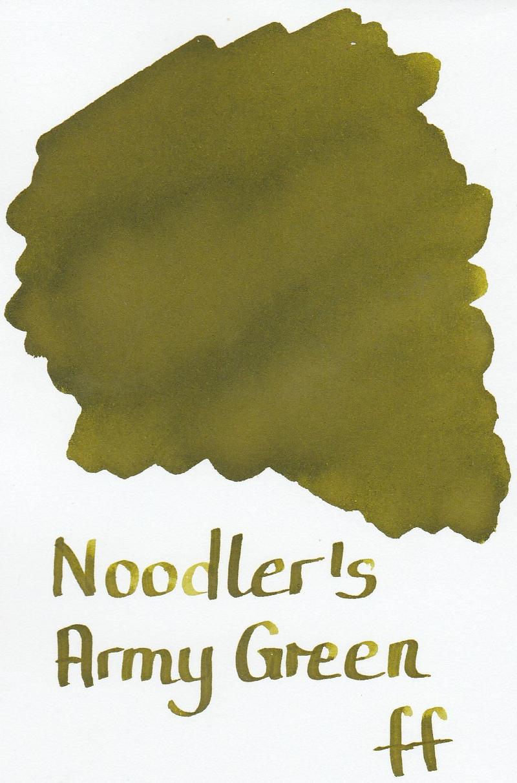 Noodler`s Army Green Ink Sample 2ml