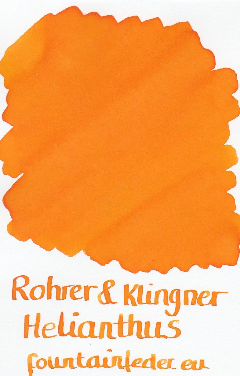 Rohrer & Klingner Helianthus Ink Sample 2ml