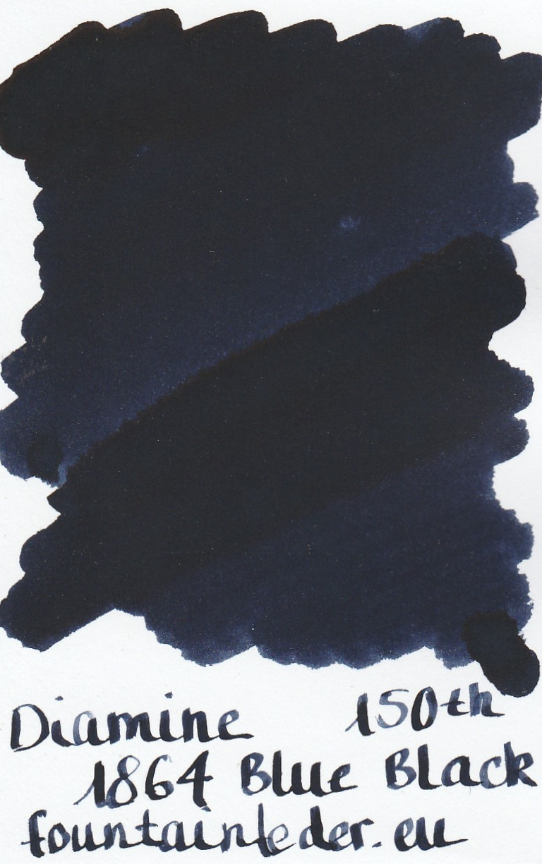 Diamine 1864 Blue Black Ink Sample 2ml