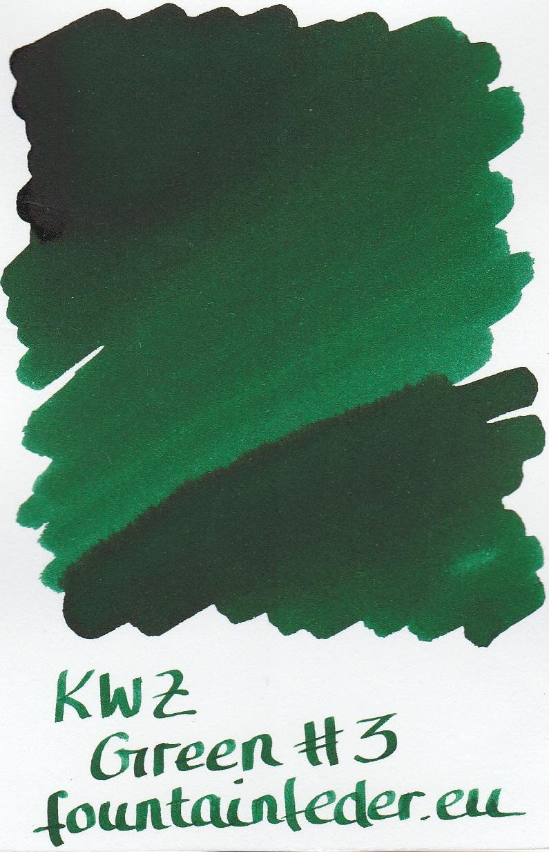 KWZ Green #3 Ink Sample 2ml