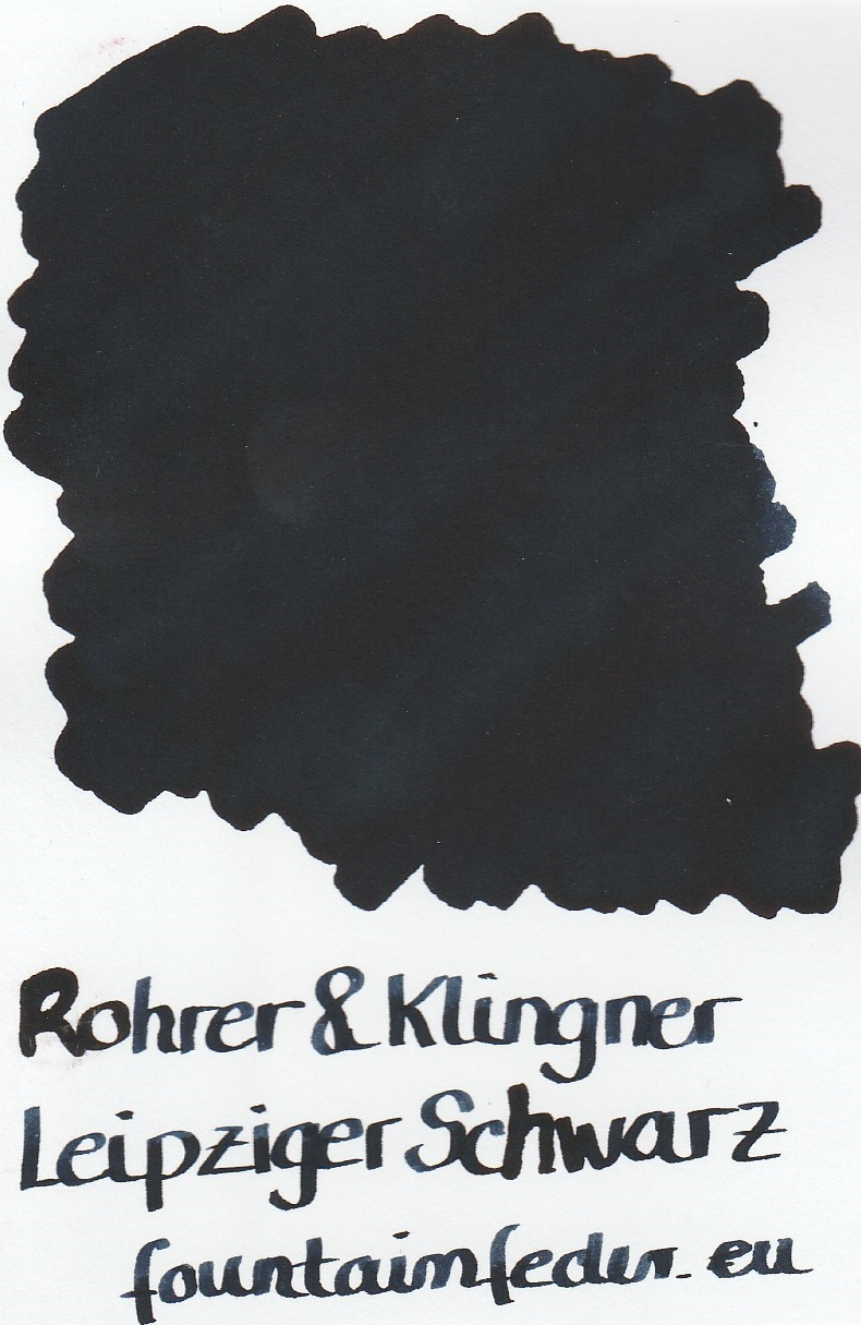 Rohrer & Klingner Leipziger Schwarz Ink Sample 2ml