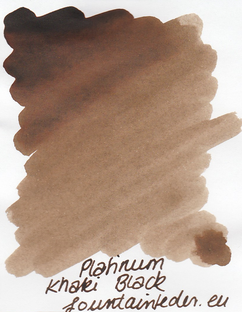 Platinum Khaki Black Ink Sample 2ml
