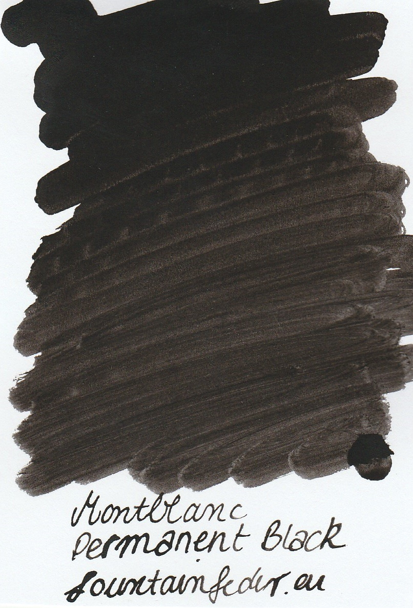 Montblanc Permanent Black Ink Sample 2ml