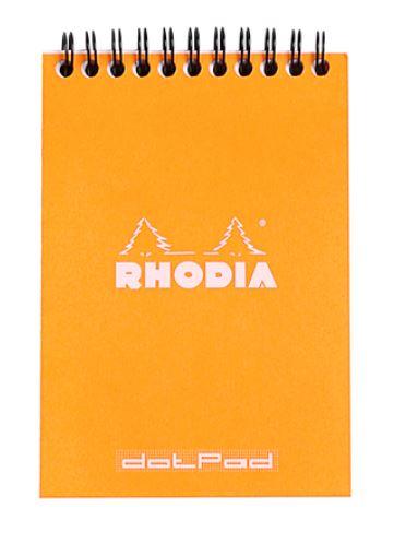 Rhodia No.13 Notepad A6 mit Doppelspirale Dot