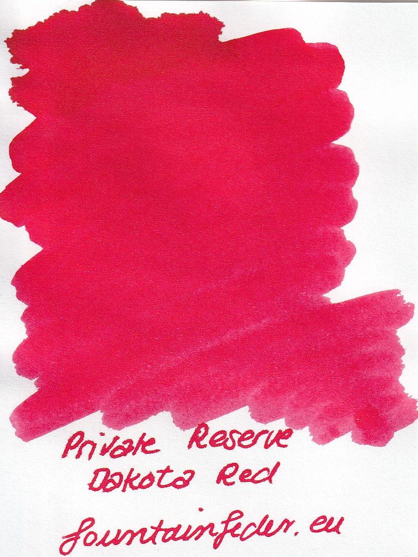 Private Reserve - Dakota Red  Ink Sample 2ml